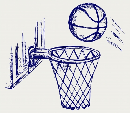 hand baskets: Basketball board Illustration