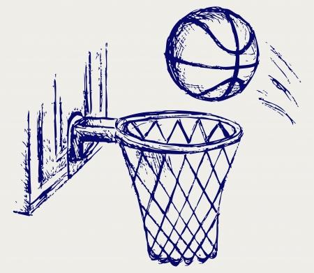 hand basket: Basketball board Illustration