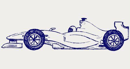 one vehicle: Formula 1 race Illustration