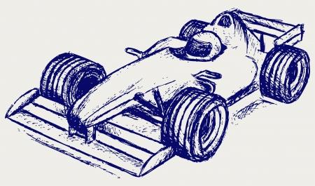 racecar: car race Illustration