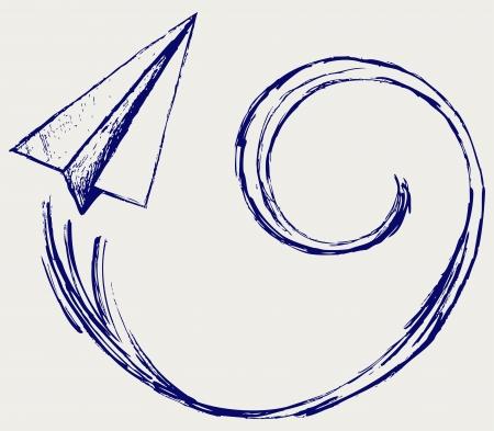 Paper planes. Sketch
