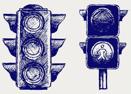 traffic light: Traffic light. Sketch