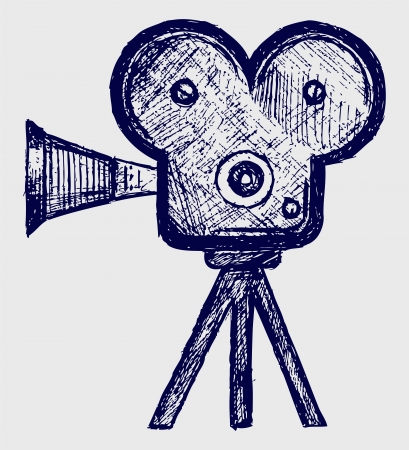 Video camera sketch Vector