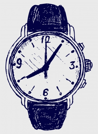 wristwatch: Wristwatch sketch Illustration