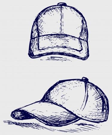 hat with visor: Baseball Cap Illustration