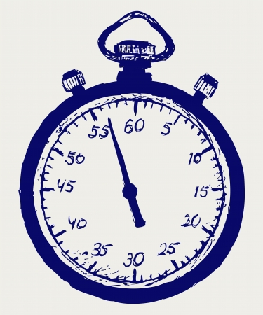 cronometro: Cron�metro boceto Vectores