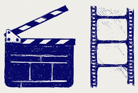clap: Clapper board. sketch Illustration