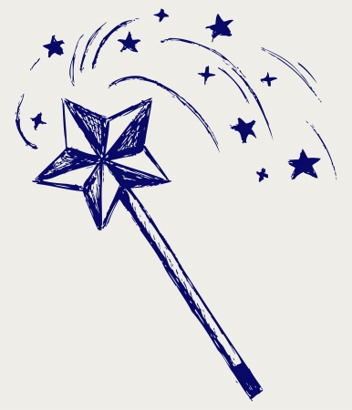 star wand: Magic wand. Sketch