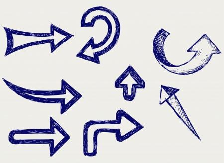 arrows. Sketch Stock Vector - 15831738