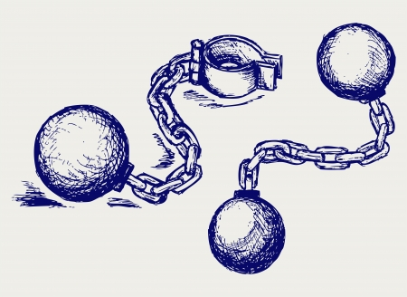 ball and chain: Wrecking ball and chain