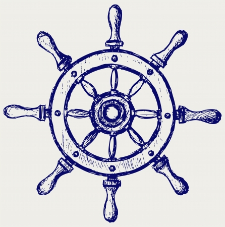 helm boat: Rueda de madera marina