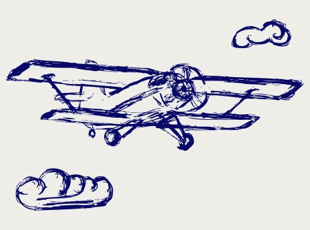 Stock Illustration  Airplane  Vector