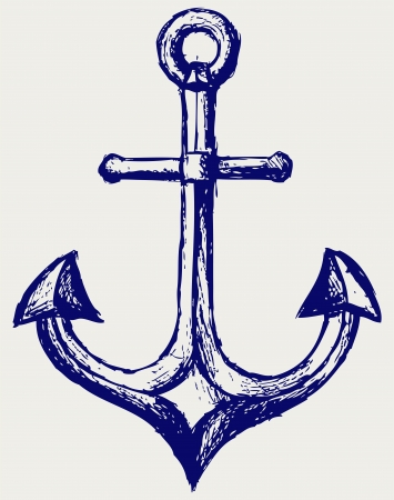 MARITIME: Anchor sketch Illustration