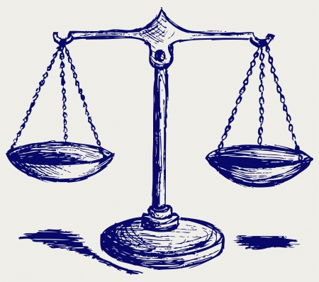 trial balance: Scale sketch Illustration