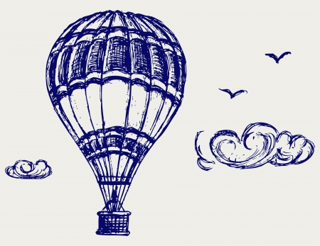 hot air balloon: Balloon sketch Illustration