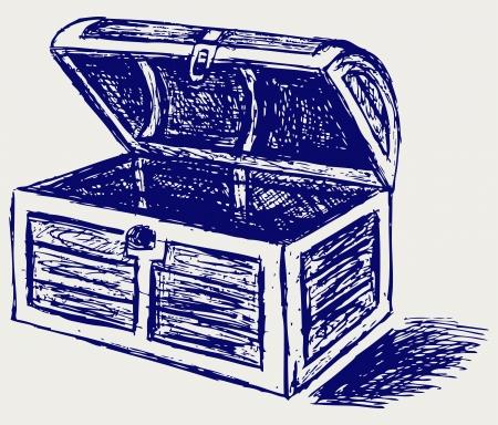 chest: Chest sketch Illustration