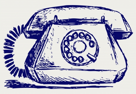 rotary phone: Telephon with rotary dial Illustration