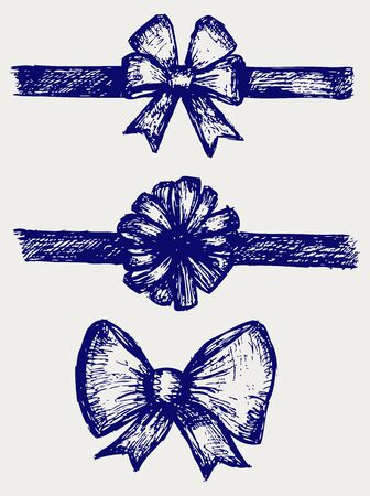trumpery: Set gift bows with ribbons