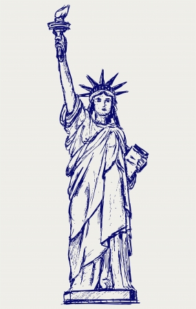 Statue of Liberty in New York City Vector