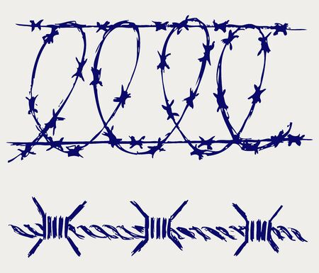 boundaries: Barbed wire Illustration