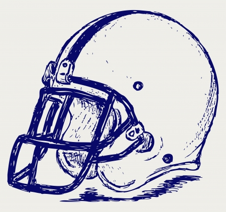 sports helmet: Helmet football Illustration