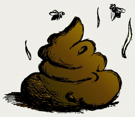 feces: Feces cartoon Illustration