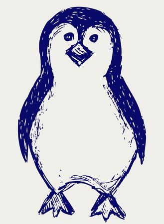 Penguin sketch Stock Vector - 15843224