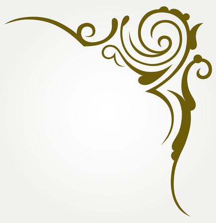 arabesque: Elemento de dise�o caligr�fico y decoraci�n de la p�gina