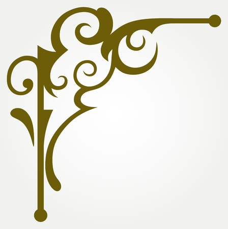 corner border: Calligraphic design element and page decoration