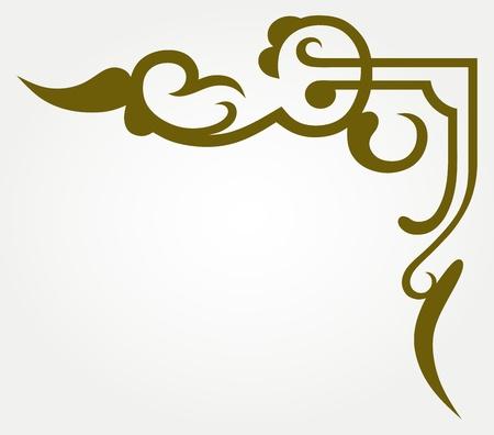 page decoration: Kalligrafische design element en pagina decoratie