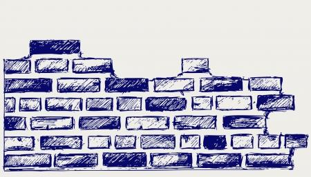 firme: Ladrillos antiguos. Dibujo