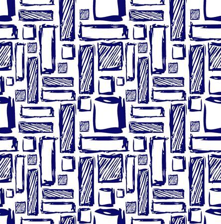 modular: Seamless geometric pattern. Op art design