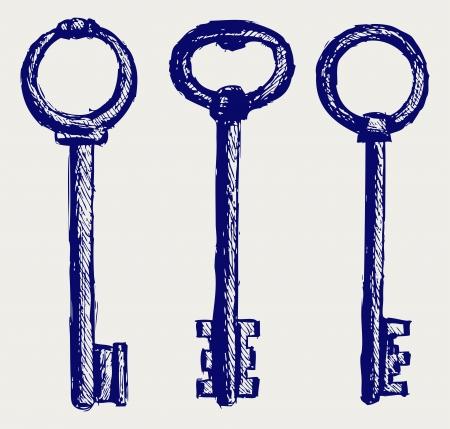 antique key: Keys sketch