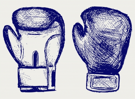 Boxing gloves  Sketch Vector