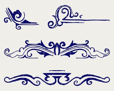 art deco design: Calligraphic design element and page decoration