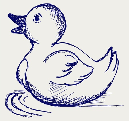 duckling: Nice small duckling. Doodle style