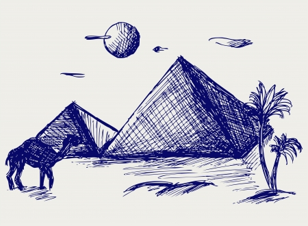 menkaure: Egypt. Doodle style