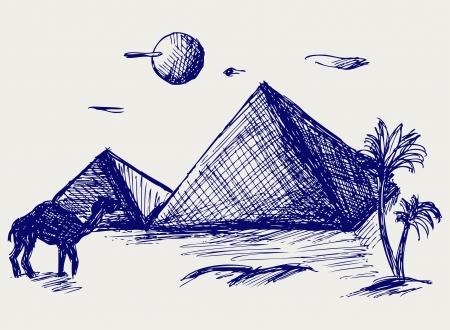 khafre: Egypt. Doodle style