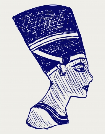 cheops: Symbol of Egypt. Doodle style Illustration