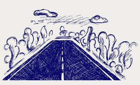 rough road: Road  Doodle style Illustration