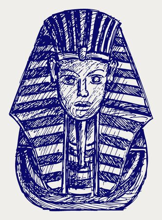 pharaoh: Portrait of Pharaoh  Doodle style Illustration