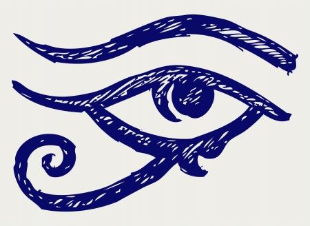 의식: 모든 보는 눈. 낙서 스타일