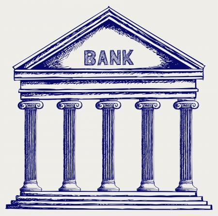 derecho romano: Banco. Columnata. Estilo Doodle
