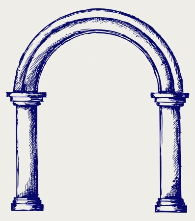 gothic architecture: Arch. Doodle style