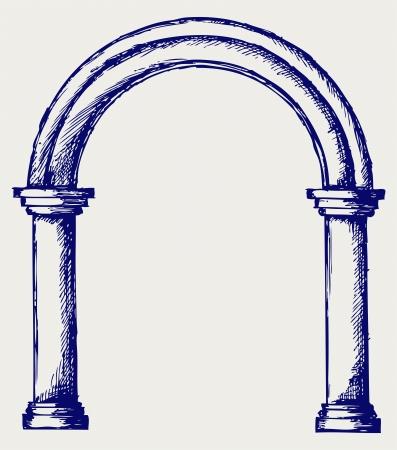 roman column: Arch. Doodle style