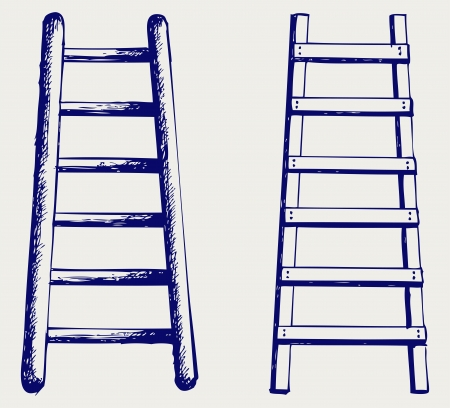 step ladder: Staircase. Doodle style