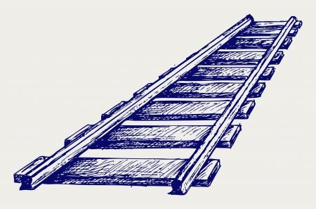 Railroad. Le style Doodle Vecteurs