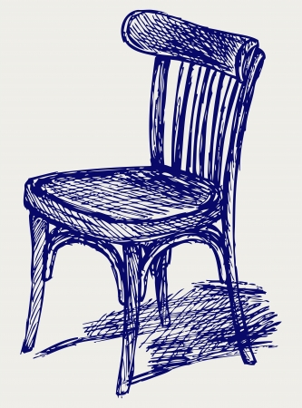 tubular: Chair classic. Doodle style