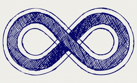 infinito simbolo: Infinity simbolo. Stile di Doodle