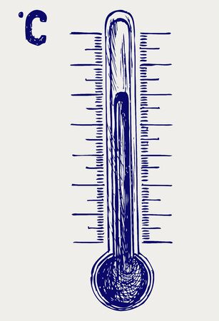 thermometer: Thermometer. Doodle style